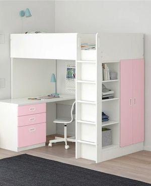 IKEA bunk bed desk dresser shelf set for Sale in Tacoma, WA