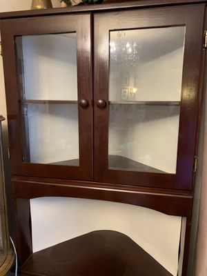 2 Cherry corner curio cabinets for Sale in Bellevue, WA