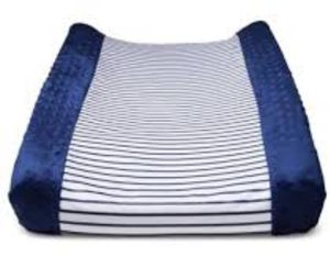 Brand new changing pad cover navy and white stripes for Sale in Lacey, WA