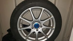 Tire 4 pieces 215/55R17 mark michelin with 4 car rims for Sale in Dearborn Heights, MI