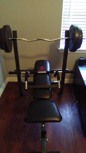 Crossbow by Weider, bench press with weights included for Sale in Houston, TX
