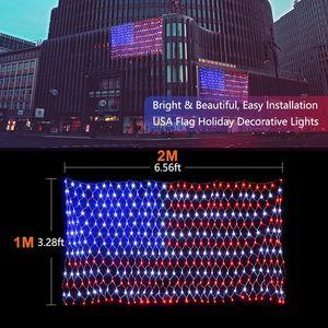 American Flag 2M x1M LED Net Lights Waterproof String Lights 30V for Sale in Oak Park, IL