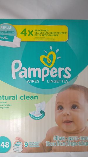 Pampers wipes natural clean 648 ct. for Sale in Roanoke, VA