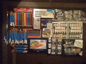 Arts and crafts & painting supplies for Sale in Sacramento, CA