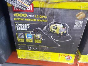 Ryobi 1900 psi electric pressure washer for Sale in San Antonio, TX