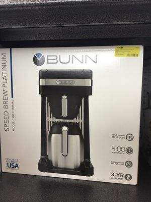 Bunny speed brew platinum coffee maker in box for Sale in Okeechobee, FL
