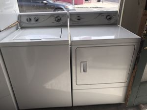 Used, matching set speed queen washer & electric dryer,white color, heavy duty, commercial quality for Sale in San Jose, CA