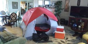 4 man coleman tent / sleeping bag/ two coolers for Sale in Port Richey, FL