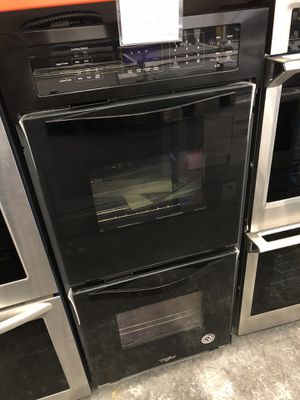 Whirlpool Black 6.3 Cu. Ft. Double Wall Oven with High-Heat Self-Cleaning System for Sale in Tampa, FL