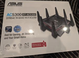 ASUS RT-AC5300 Extreme Triband Wi-fi Router for Sale in Palo Alto, CA