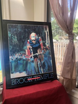 Brook Temple Biking Poster Print Editions Limited, Susanna Anderson-Carey for Sale in Germantown, MD
