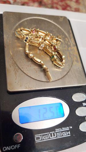 STUNNING 14K GOLD BRACELET WITH GEMS for Sale in Springfield, VA