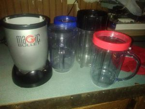 Magic bullet and blending containers for Sale in Prattville, AL