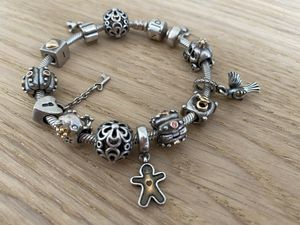 "Pandora bracelet 7.5"" with 13 charms (sterling silver original) for Sale in Los Angeles, CA"
