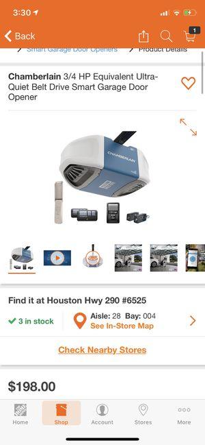 Chamberlain Smart Garage Door Opener (WiFi) for Sale in Houston, TX