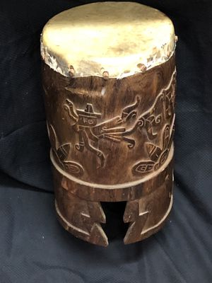 Antique Xxl Huehuetl Aztec Mexican Drum for Sale in Puyallup, WA