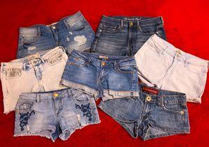Lot of 7 Pair Denim Shorts, Sized 5-7 HOLLISTER, etc. for Sale in Las Vegas, NV