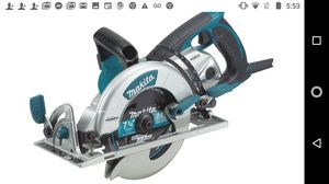 Makita 15 Amp 7-1/4 in. Corded Lightweight Magnesium Hypoid Circular Saw with built in fan and 24T Carbide blade for Sale in Modesto, CA