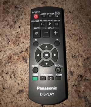 Like new Panasonic display remote control. for Sale in Stone Mountain, GA