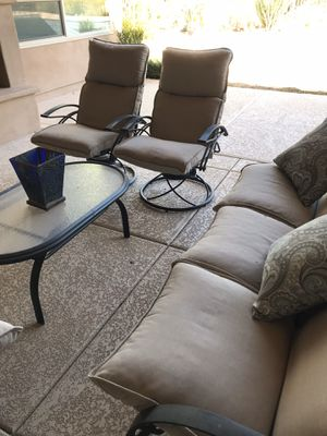 Patio furniture. Dining table and seating area. for Sale in Scottsdale, AZ