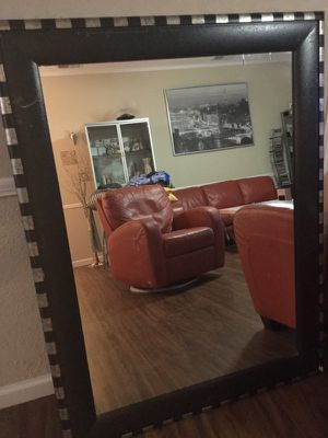 Large vintage mirror size 30 in wide 42 in long and trim is 5 in for Sale in Austin, TX