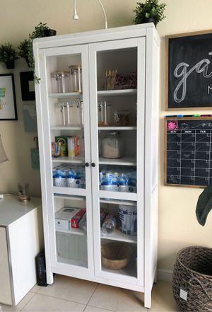 Hemnes Glass door cabinet / storage shelves for Sale in Miami, FL