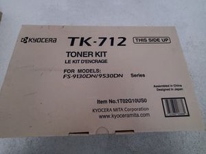 Genuine OEM Kyocera TK-712 toner kit for FS-9130DN/9530DN Series printer for Sale in Palm Beach Gardens, FL