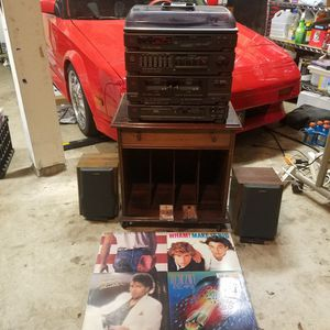 Home Stereo System With Record Cabinet for Sale in Oregon City, OR