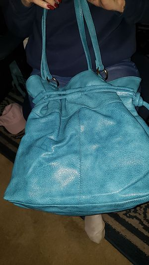 Blue leather purse. for Sale in Vancouver, WA