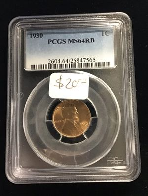 1930 PCGS MS 64 RB 1 Cent for Sale in Bakersfield, CA