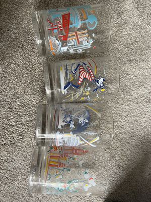 Set of 4 mint condition Disney 25th anniversary glasses- vintage for Sale in Franklin, TN