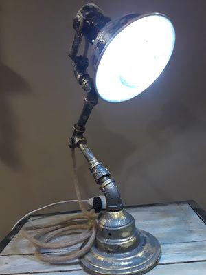 STEAMPUNK INDUSTRIAL style desk lamp for Sale in Burnsville, MN