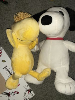 Snoopy and woodstock plushies for Sale in Greenwood, IN