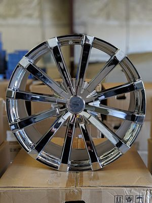 "24"" wheels Structure SA93 24x10 5-135/139.7 Chrome Rims for Sale in Longwood, FL"
