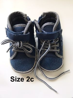 Baby Boys Blue Hi Top Crib Shoe Boot Booties Size 2 Koala Baby for Sale in Palmdale, CA