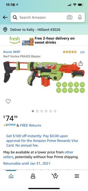 Nerf Vortex Praxtis for Sale in Hilliard, OH