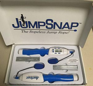 JumpSnap, The Ropeless Jump Rope - Calorie Counter, (4) Cardio Pumping DVD Workouts & Hand Weights for Sale in Joliet, IL