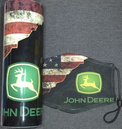 John Deere American Flag Travel Tumbler With Matching Face Mask And Filter for Sale in Salinas,  CA