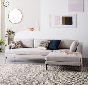 West Elm Andes Sectional Couch/Sofa for Sale in Westminster, CO