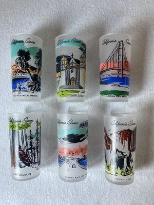 California scenes frosted glasses for Sale in Turlock, CA