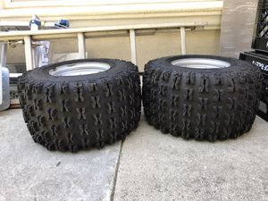 ITP Holeshot tires wheels Yamaha atv like new for Sale in Elverta, CA