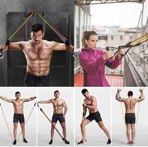 11PCS Resistance Bands Set, Exercise Bands with Handles Attached 5 Resistance Bands For Workout Fitness Bands Home Gyms Stackble Up to 100LBS for Sale in West Covina, CA