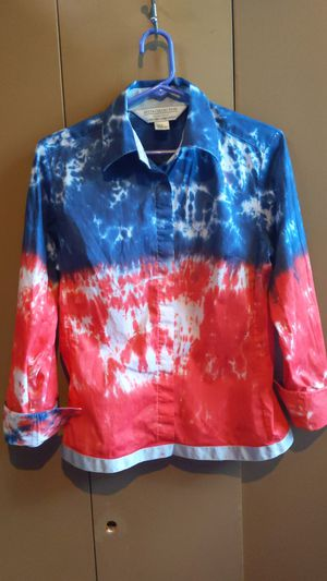 Repurposed shirts USA colors red white and blue for Sale in Midland, VA