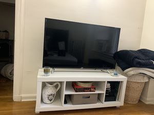 Tv stand (also a wall table or coffee table) for sale! (Getting all different furniture for the apartment) for Sale in Chicago, IL