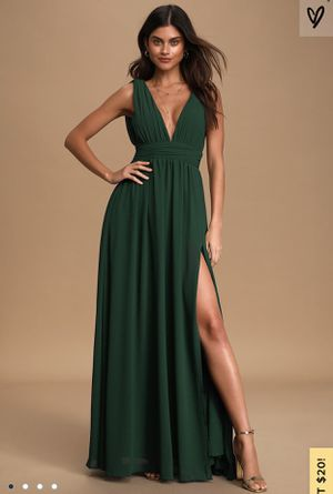 Lulus Forest Green Prom Dress for Sale in Milton, WA