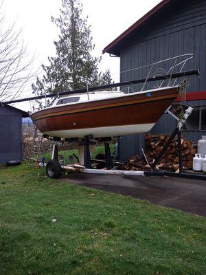 Sail boat with trailer 100 bucks no title for Sale in Everett, WA