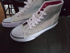 Sz 7 - Converse style glitter shoes for Sale in Chicago, IL