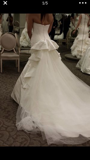 Truly Zac Posen Petite Strapless Wedding Dress for Sale for sale  Lone Tree, CO