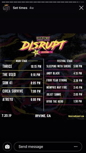 July 20 disrupt fest tickets for Sale in Fullerton, CA
