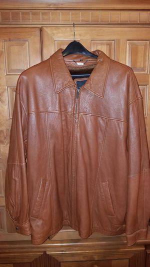 Men's Soft Leather Cognac/Light Brown Size 3XL Jacket for Sale in Durham, NC